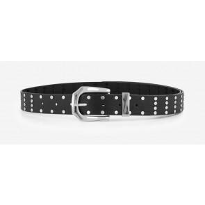 Nik en Nik girls studded long belt in de kleur black zwart