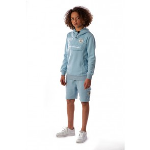 Black Bananas kids korte sweat broek the anorak short in de kleur lichtblauw