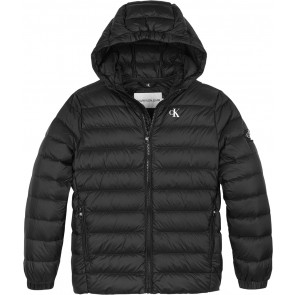Calvin Klein kids boys light down jacket zomerjas in de kleur zwart