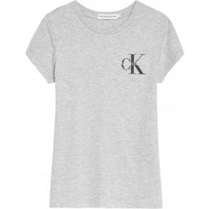 Calvin Klein kids girls chest monogram t-shirt in de kleur grijs