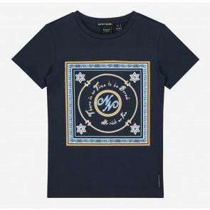 Nik en Nik kids girls No risk t-shirt in de kleur donkerblauw