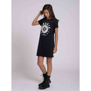 Nik en Nik kids girls Galy tee dress jurk in de kleur zwart
