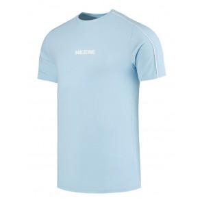 Malelions kids logo t-shirt met witte bies in de kleur lichtblauw
