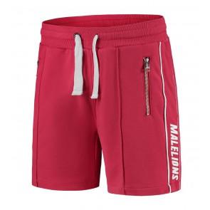 Malelions kids korte sweat broek logo sweatshort in de kleur rood