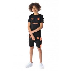 Black Bananas kids t-shirt FC goal tee in de kleur zwart/oranje