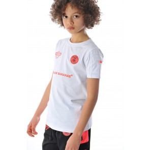 Black Bananas kids t-shirt FC goal tee in de kleur wit/oranje