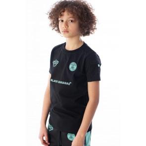 Black Bananas kids t-shirt FC goal tee in de kleur zwart/mint