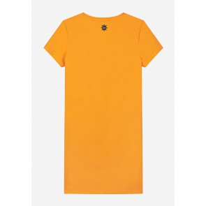 Nik en Nik girls Galy tee dress jurk in de kleur orange yellow geel