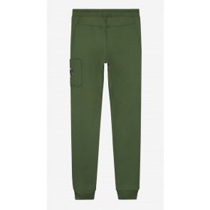 Nik en Nik boys lange sweat broek Falco sweatpants in de kleur dark moss green groen