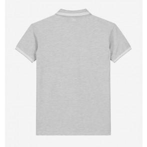 Nik en Nik boys Kiron polo shirt in de kleur ultra light grey grijs