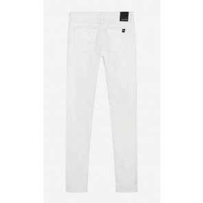 Nik en Nik girls lange broek Fiona denim in de kleur vintage white