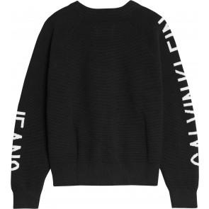 Calvin Klein kids girls gebreide sweater trui in de kleur zwart