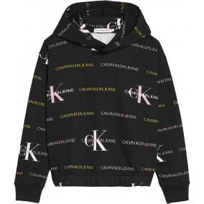 Calvin Klein kids girls mix allover print sweater trui in de kleur zwart