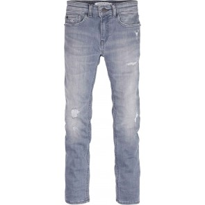 Calvin Klein kids boys skinny smokey grey blue denim destructed in de kleur jeansblauw