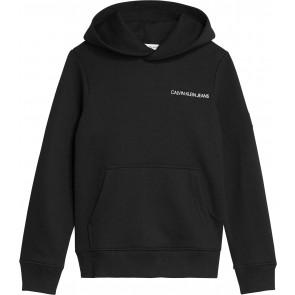 Calvin Klein kids boys monogram sleeve hoodie sweater in de kleur zwart