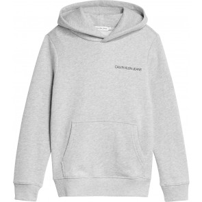 Calvin Klein kids boys monogram sleeve hoodie sweater in de kleur lichtgrijs