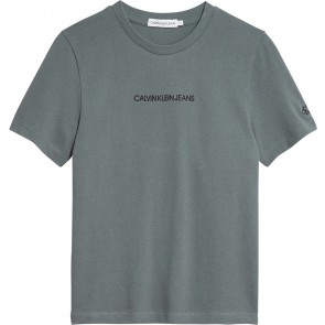 Calvin Klein jeans kids boys piqué t-shirt in de kleur army green groen
