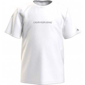 Calvin Klein jeans kids boys piqué t-shirt in de kleur wit