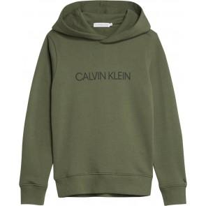 Calvin Klein jeans kids institutional logo hoodie sweater trui in de kleur army green groen
