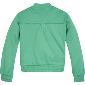 Tommy Hilfiger kids girls tommy tape track top sweatvest in de kleur cosmic green groen