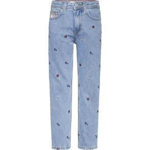 Tommy Hilfiger kids girls harper straight fit met geborduurde patches in de kleur jeansblauw