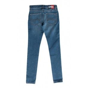 Tommy Hilfiger kids girls Nora super skinny fit jeans broek in de kleur jeansblauw