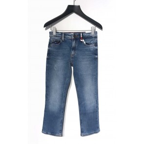 Tommy Hilfiger kids girls straight fit jeans broek in de kleur jeansblauw