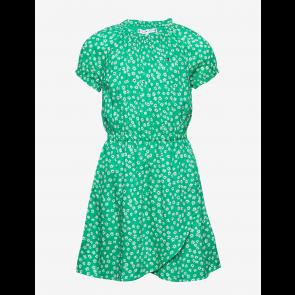 Tommy Hilfiger kids girls Ditsy flower wrap dress jurk in de kleur cosmic green groen