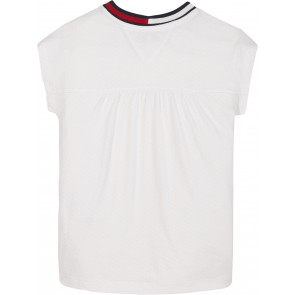 Tommy Hilfiger kids girls t-shirt mesh top in de kleur wit