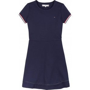 Tommy Hilfiger kids girls essential skater dress jurk in de kleur donkerblauw