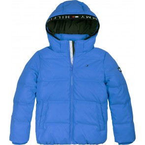 Tommy Hilfiger kids boys padded reflective jacket winterjas in de kleur kobalt blauw