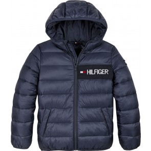 Tommy Hilfiger kids boys essential padded jacket in de kleur donkerblauw