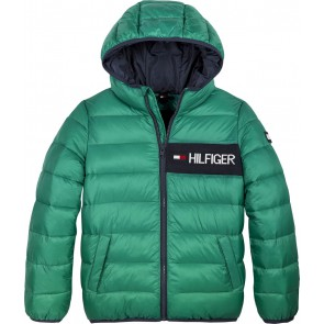 Tommy Hilfiger kids boys essential padded jacket winterjas in de kleur groen