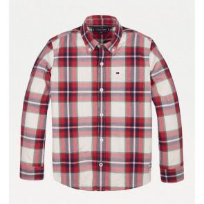 Tommy hilfiger kids boys geruite blouse in de kleur rood/blauw/groen
