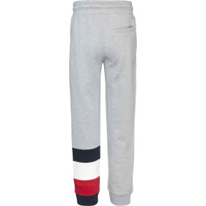 Tommy hilfiger kids boys global stripe colorblock sweatpants in de kleur grijs