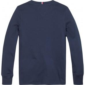 Tommy Hilfiger kids boys global stripe graphic longsleeve shirt in de kleur donkerblauw