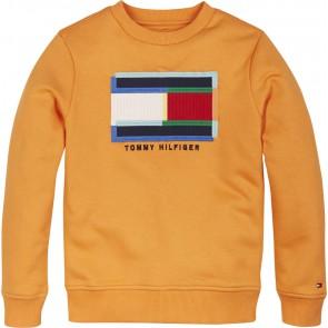 Tommy Hilfiger kids boys fun artwork sweatshirt trui in de kleur oranje