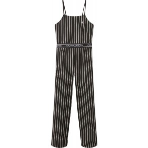 Calvin Klein kids girls striped strap jumpsuit in de kleur zwart