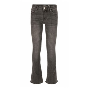 Indian blue jeans girls grey lola flare fit in de kleur antraciet grijs