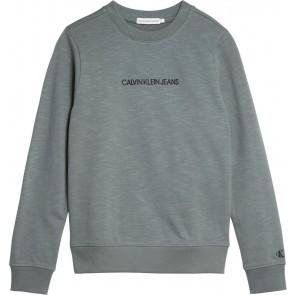 Calvin Klein jeans boys logo sweatshirt in de kleur forest green groen