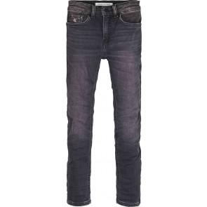 Calvin Klein jeans boys skinny fit stretch jeans broek in de kleur zwart