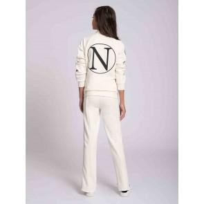 Nik en Nik girls Gabrielle track jacket in de kleur vintage white