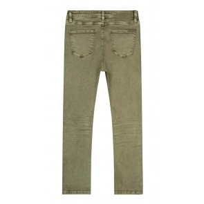 Circle of trust girls Amber loose fit jeans broek in de kleur moss green groen
