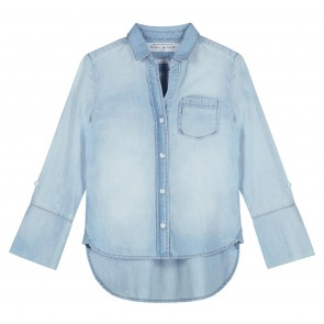 Circle of trust girls liv soepele denim blouse in de kleur jeansblauw