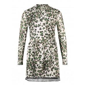 AI&KO girls Mirlina leopard dress jurk in de kleur groen