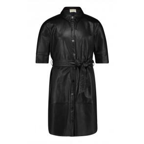 AI&KO girls Peloma dress jurk imitatie leer in de kleur zwart