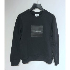 Ballin Amsterdam sweater trui logo print in de kleur zwart