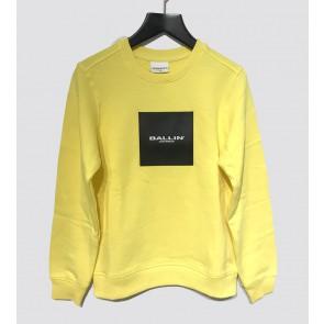 Ballin Amsterdam sweater trui logo print in de kleur geel
