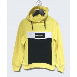 Ballin Amsterdam hoodie sweater trui logo print in de kleur geel