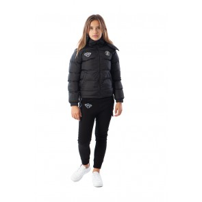 Black Bananas kids JR F.C. bubble coat winterjas in de kleur zwart